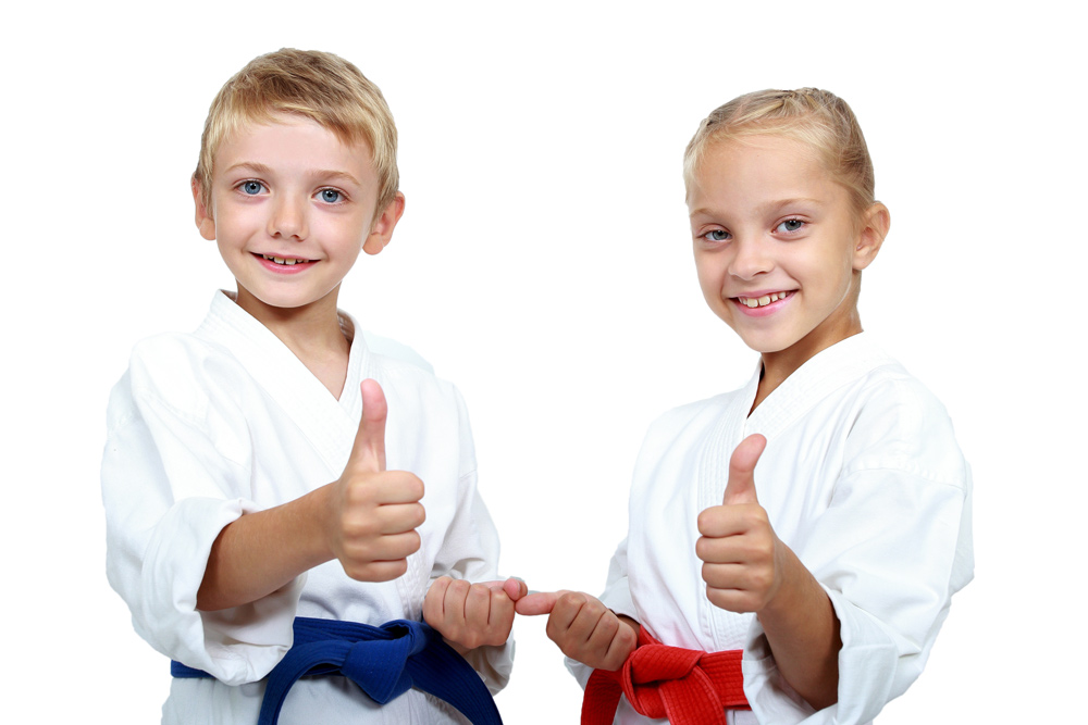 two-martial-arts-kids-thumbs-up